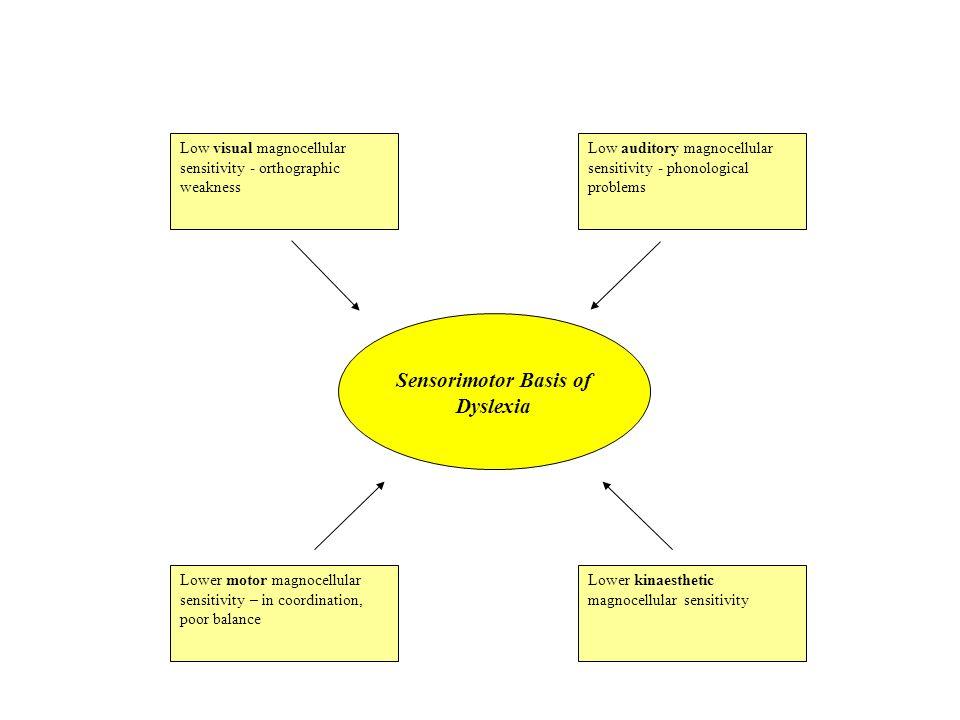 Sensorimotor Basis of Dyslexia