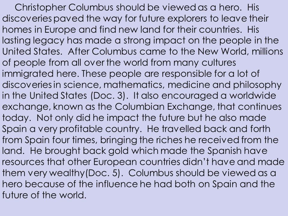 Essays On Christopher Columbus
