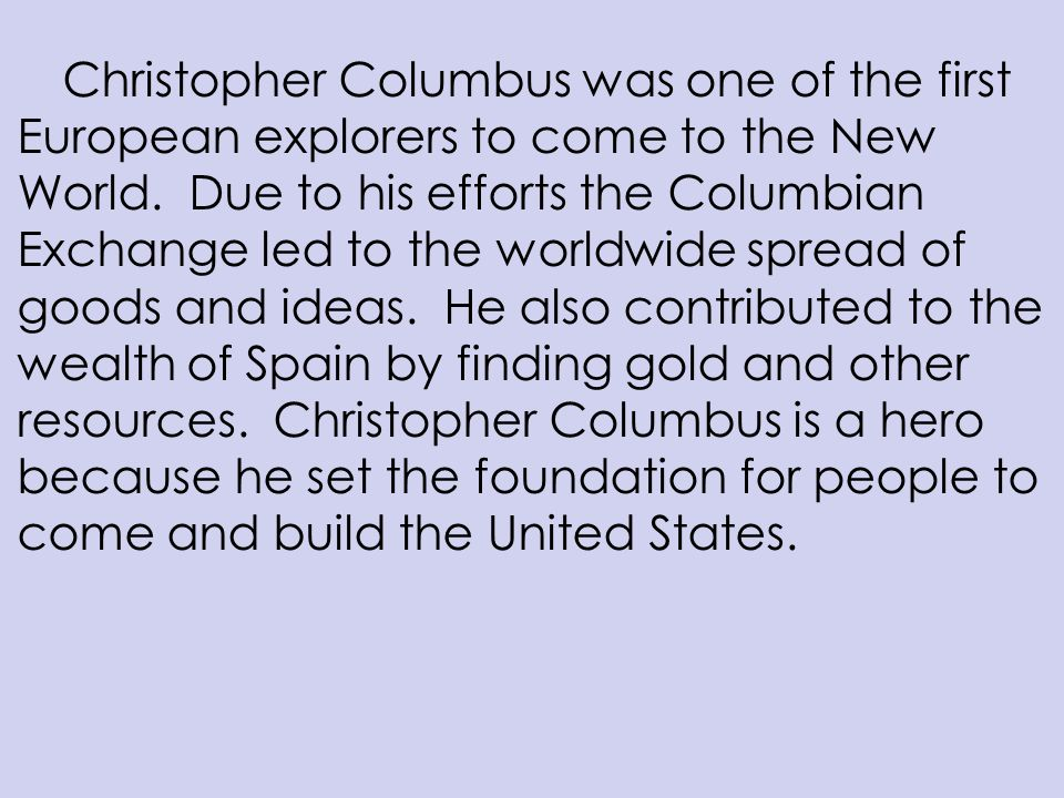 christopher columbus thesis statement Attached christopher columbus thesis statement: the story of christopher columbus is one that forms a very significant part of the american history.