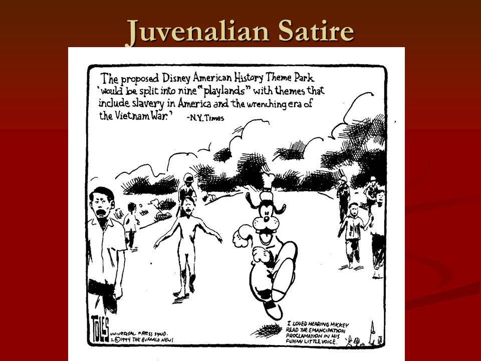 juvenalian and horatian satire Edit article how to write a satire four parts: horatian vs juvenalian satire choosing a subject writing satire publishing satire community q&a satire is a very refined sort of humor, and writing a satire piece can be challenging if you've never done it.