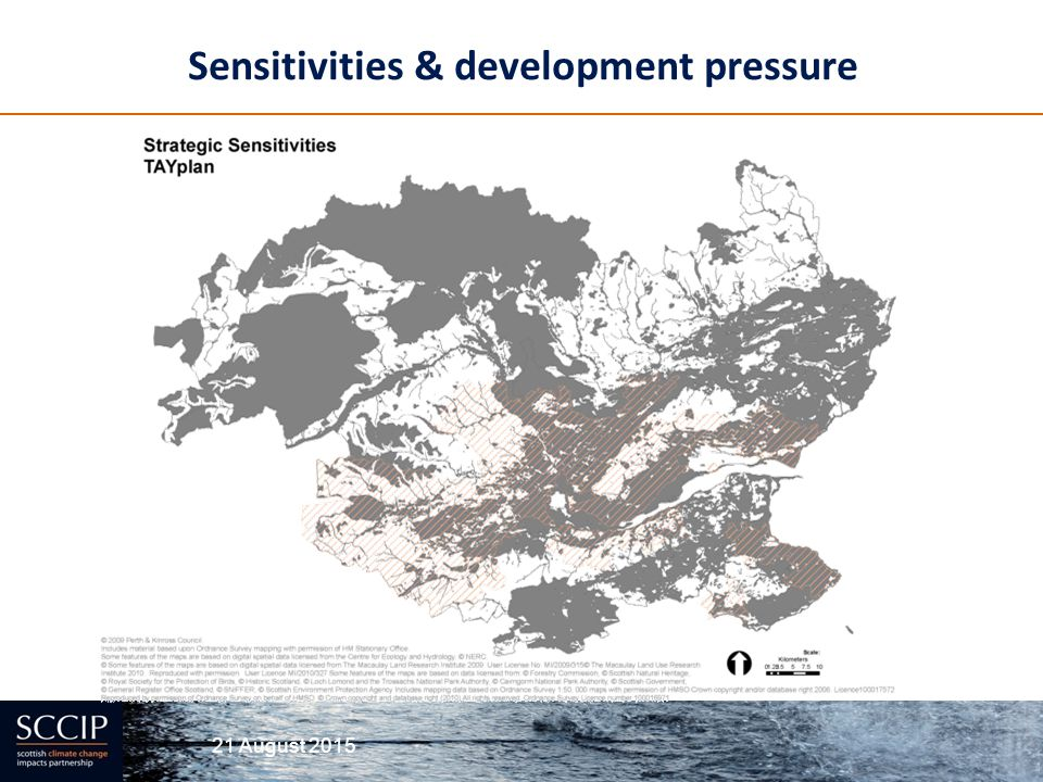 Sensitivities & development pressure
