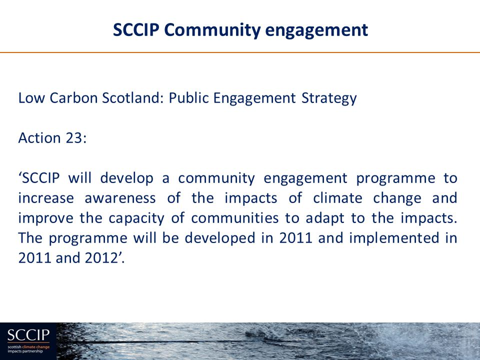 SCCIP Community engagement