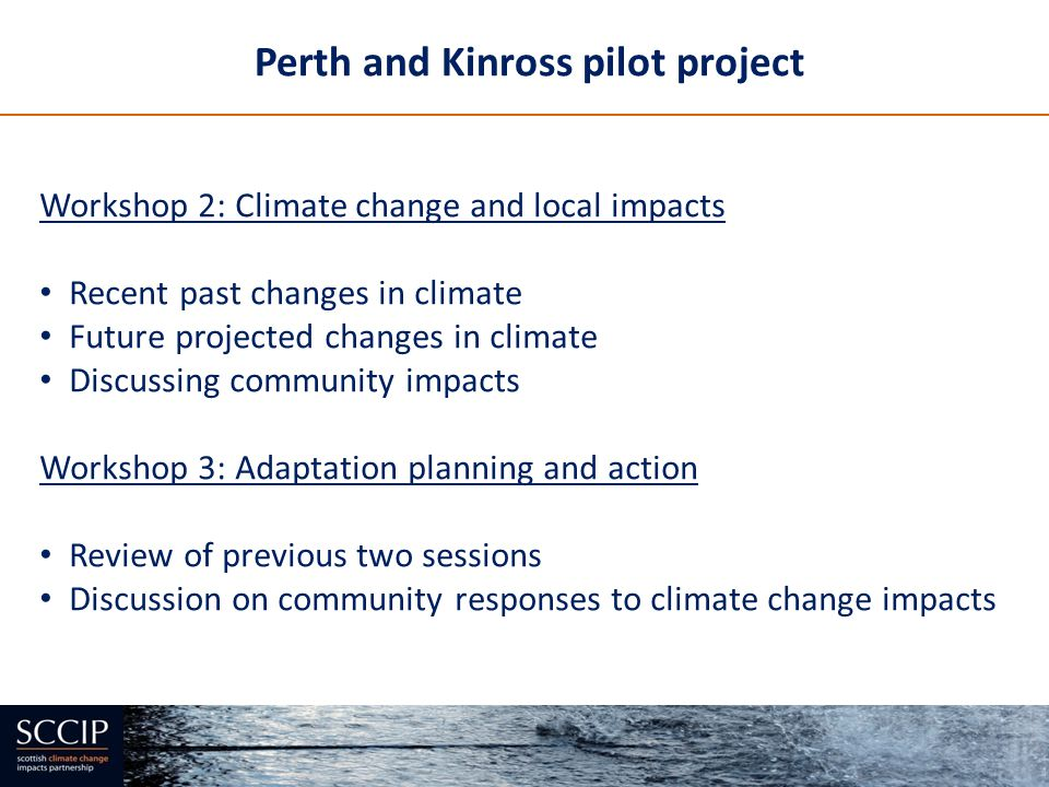 Perth and Kinross pilot project