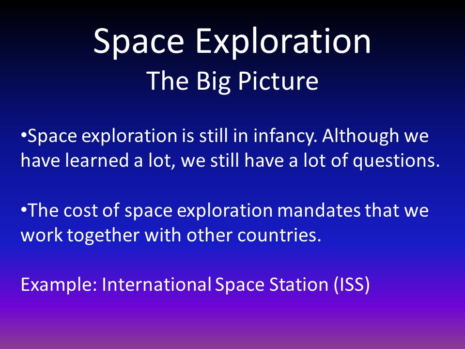 Space Exploration The Big Picture