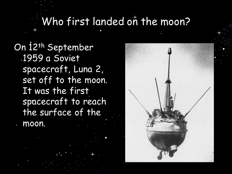 Who first landed on the moon