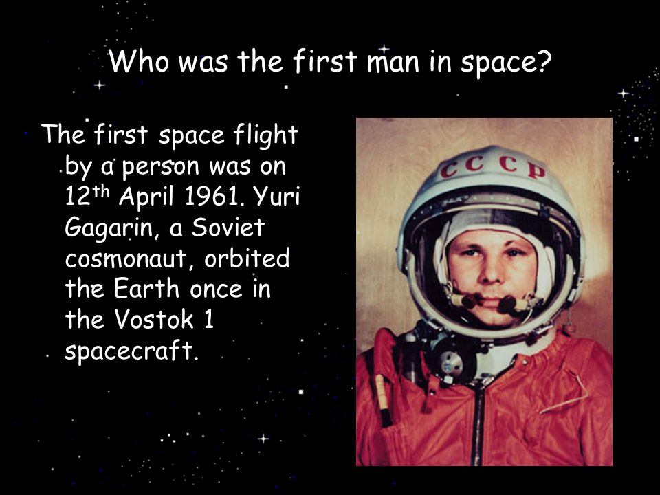 Who was the first man in space