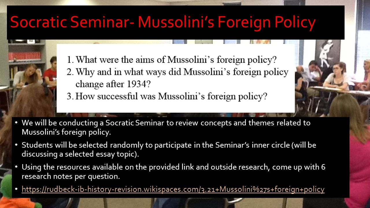 Mussolinis foreign policy essay