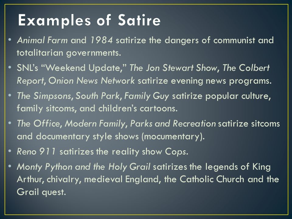 satire analysis step process for understanding analyzing and  examples of satire animal farm and 1984 satirize the dangers of communist and totalitarian governments