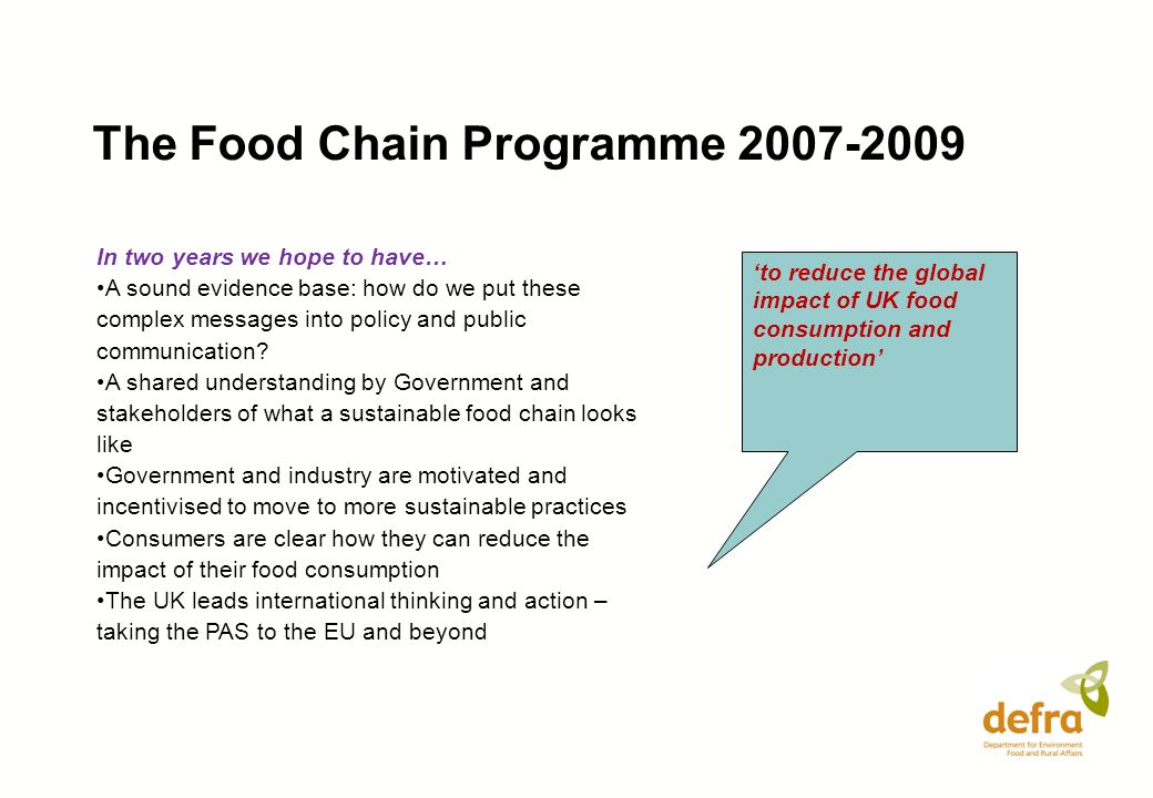 The Food Chain Programme