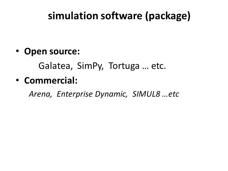 simulation software (package)