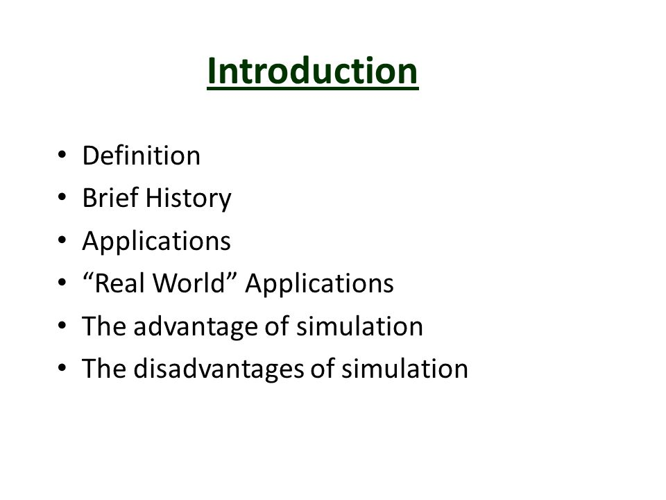 Introduction Definition Brief History Applications
