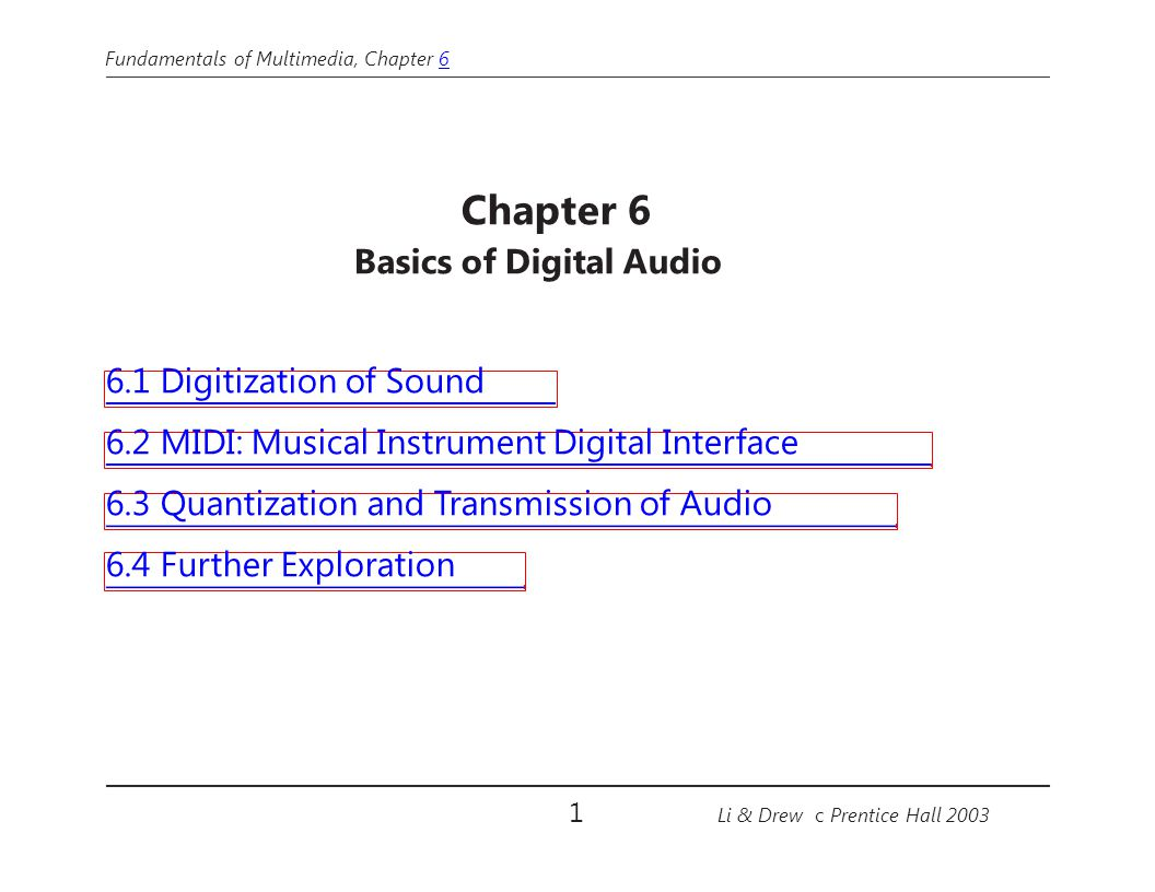Basics of Digital Audio