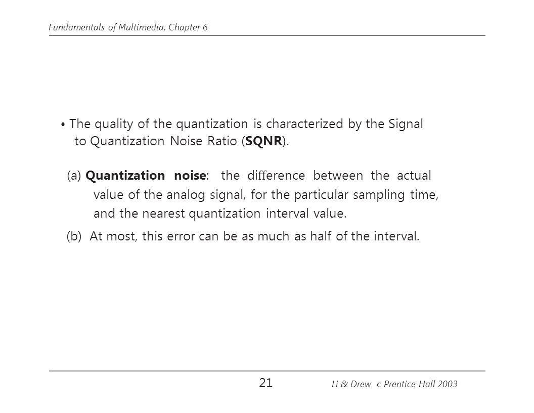 to Quantization Noise Ratio (SQNR).