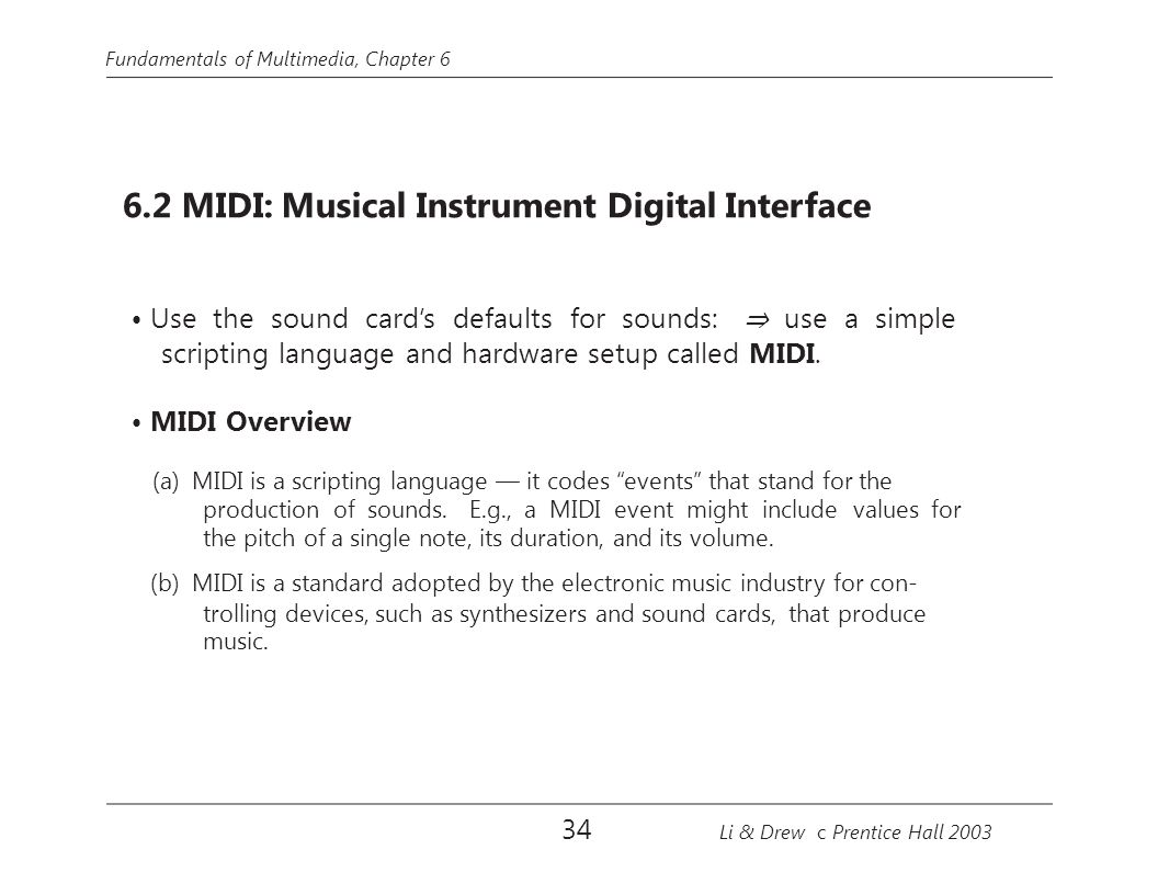 • Use the sound card's defaults for sounds: ⇒ use a simple