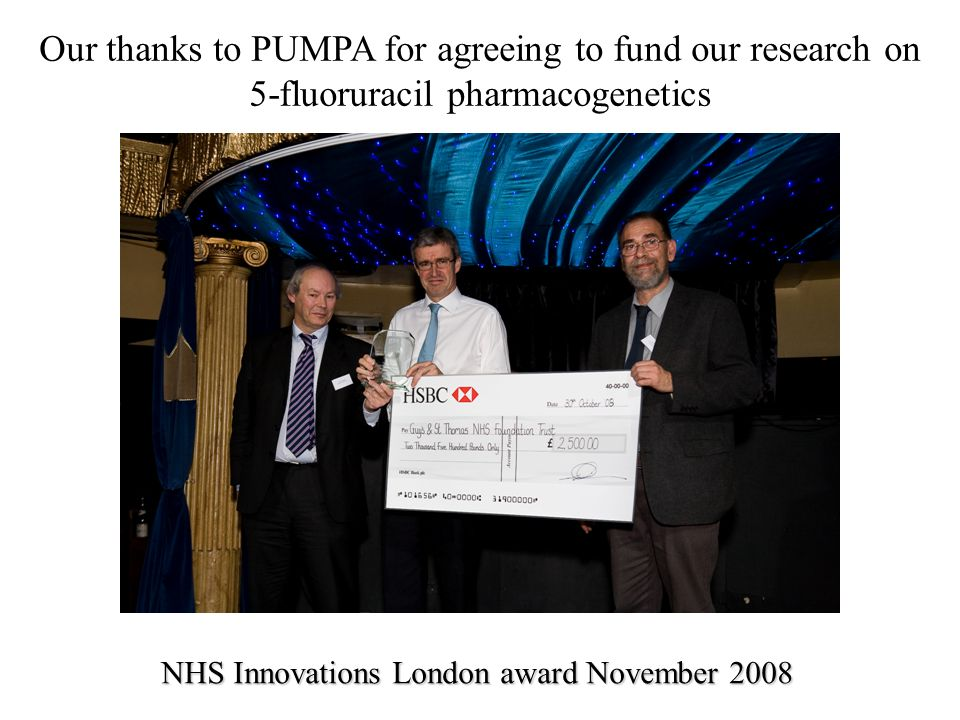 Our thanks to PUMPA for agreeing to fund our research on