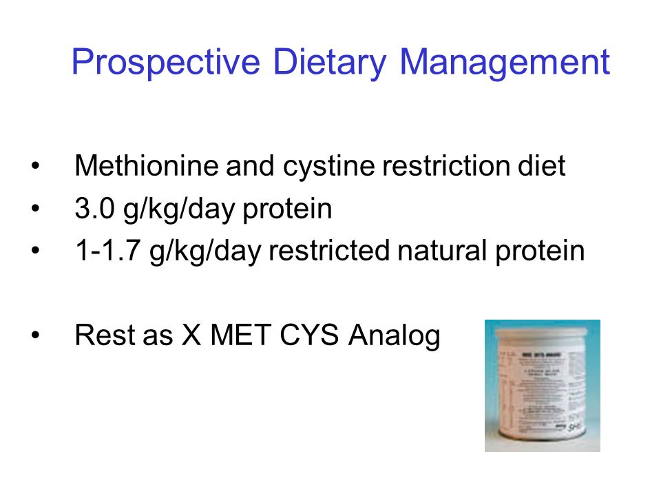 Prospective Dietary Management
