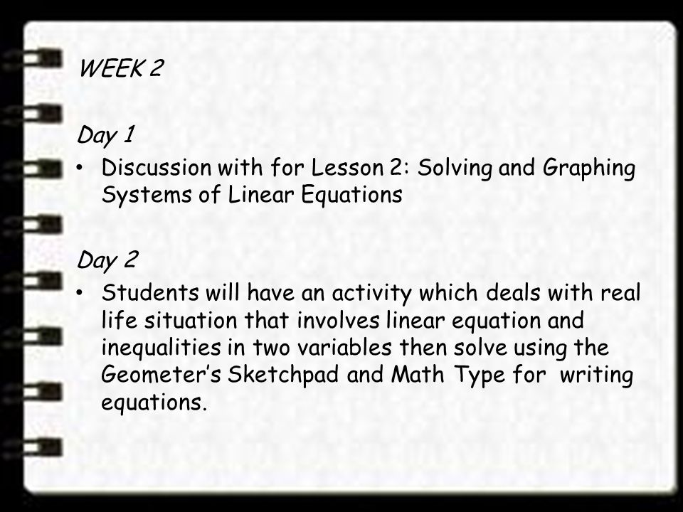 linear equality applied in real life essay Where a1,a2 an and b are real constants definition a finite set of linear equations in the variables x1,x2 ,xn is called a system of linear equations  linear equations, consider a general system of two linear equations in the unknowns x and y: a1x+b1y = c1 a2x+b2y = c2 2.