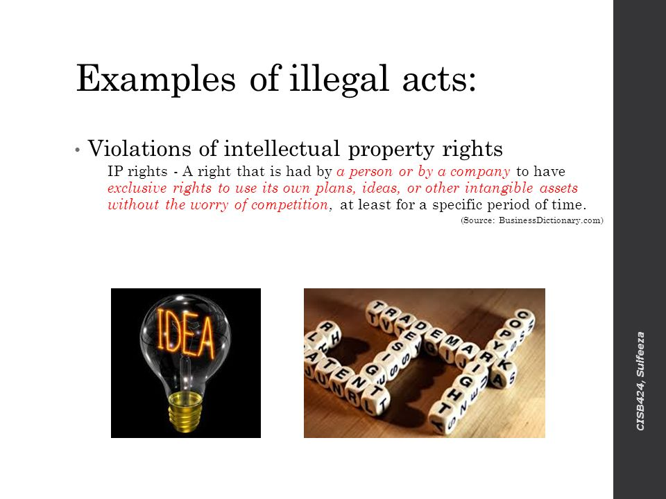 Intellectual Property Right Violations
