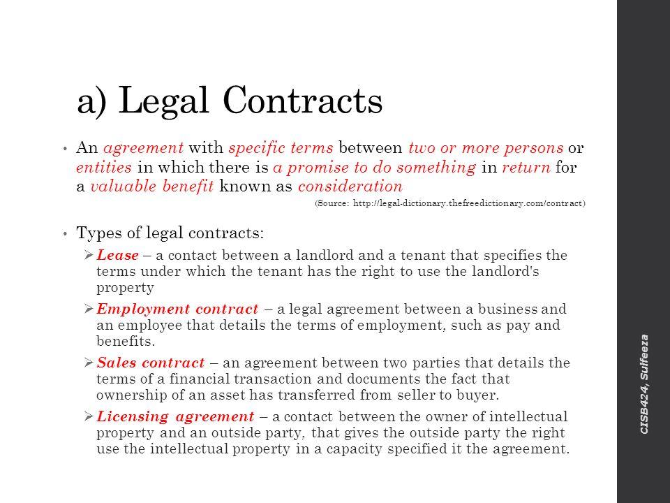 Business contract between two parties