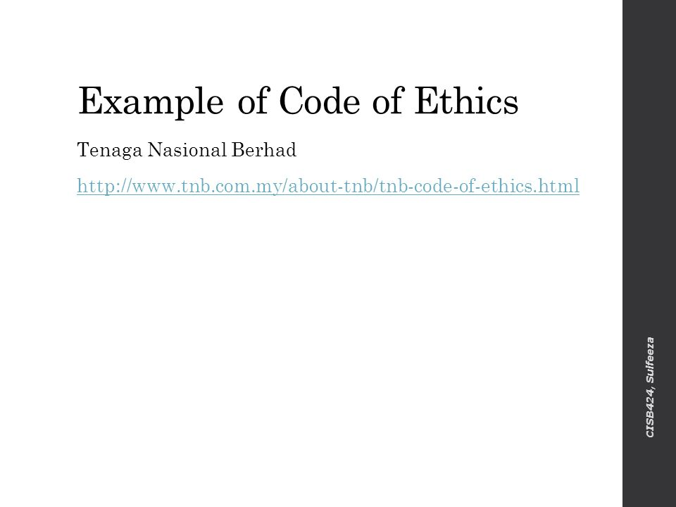 acs code of ethics Ethics is in origin the art of recommending to others the sacrifices required for cooperation with oneself bertrand russell (20th century english philosopher) a man without ethics is a wild beast loosed upon this world.