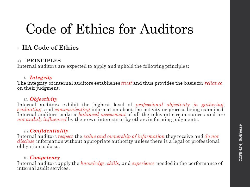 Code of Ethics Comparison