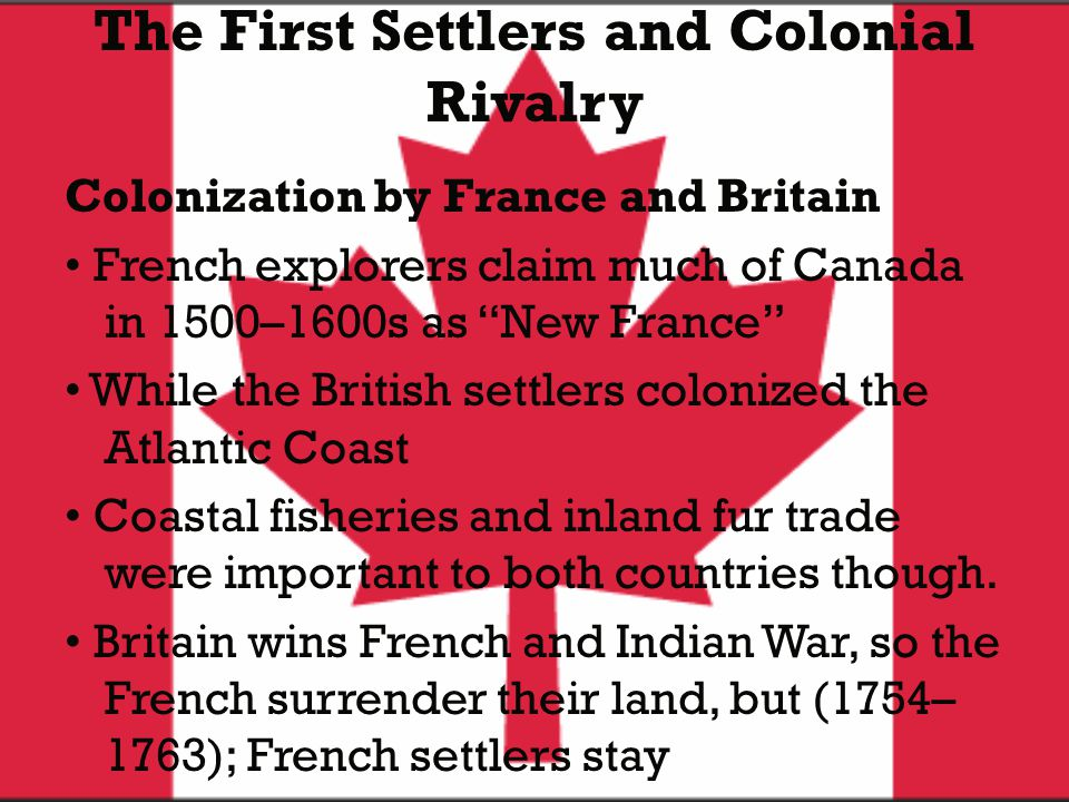 The First Settlers and Colonial Rivalry