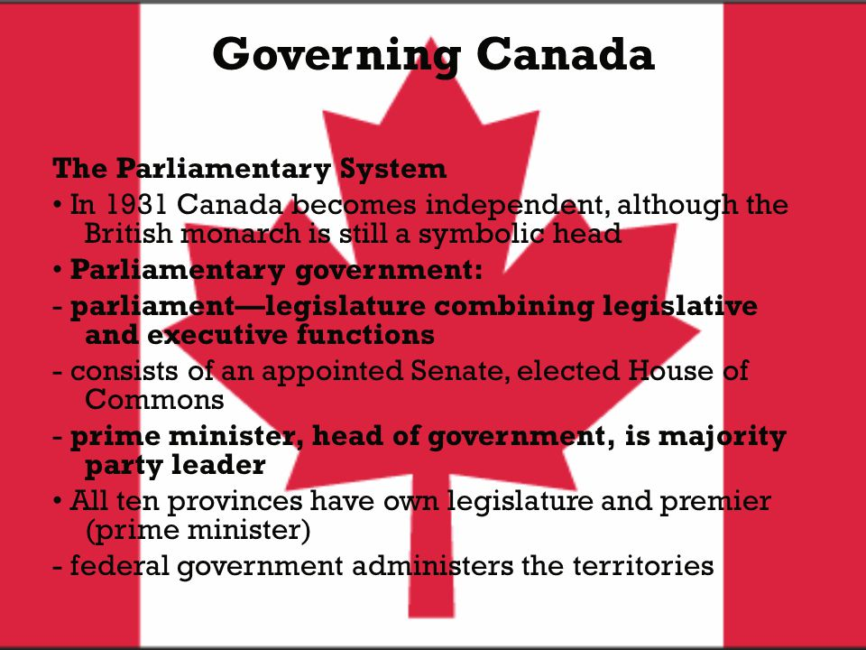 Governing Canada