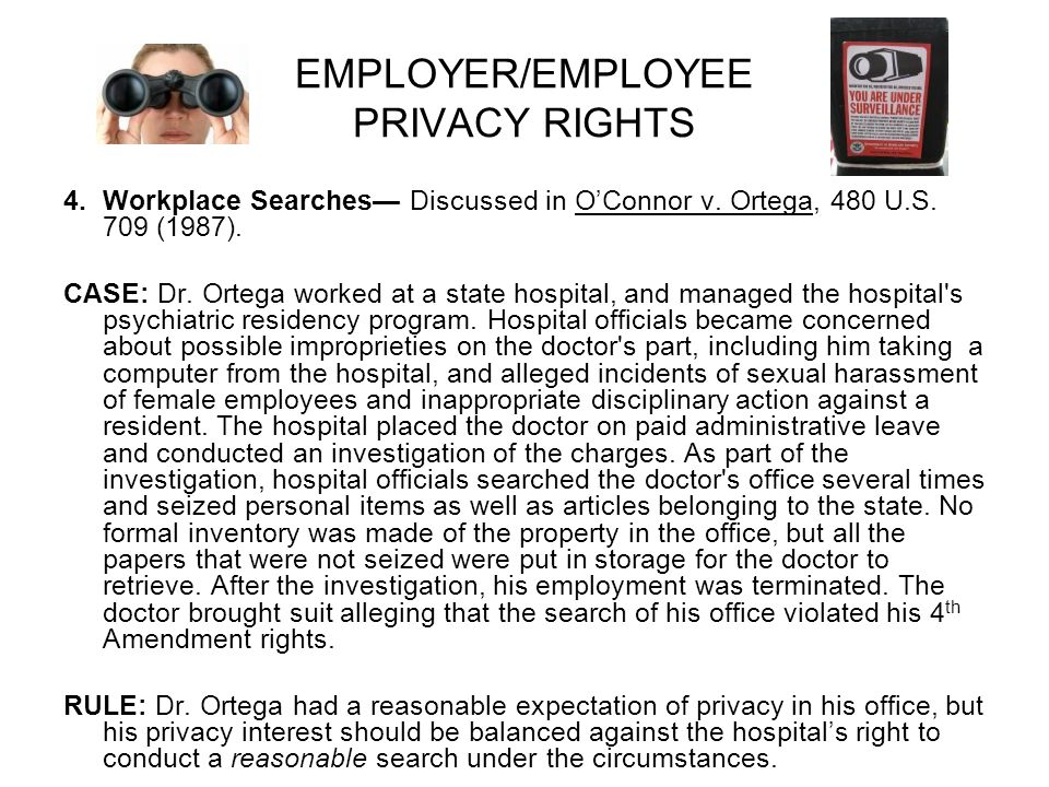 employe privacy rights in the workplace essay In any organization, there are three basic requirements, which must be taken into account to enhance the success of the organization these include.