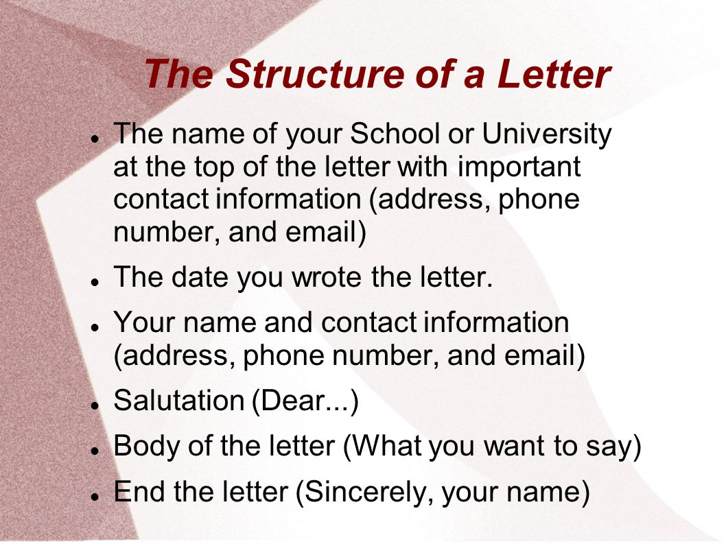 Writing reference letters ppt download the structure of a letter aljukfo Image collections