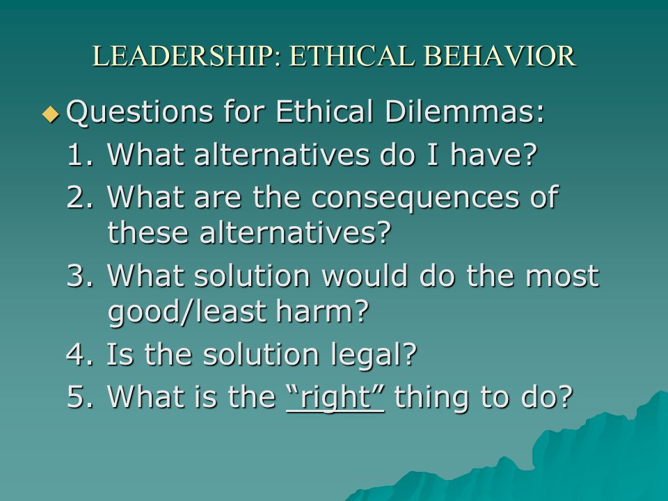 four alternative views of ethical behaviour What is ethical behavior • four alternative ethical views (muji) - utilitarian • delivers the greatest good to the most people - individualism • advances.