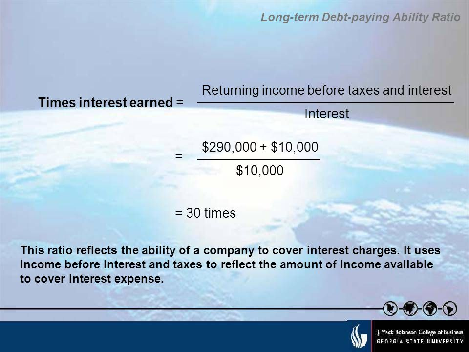 Returning income before taxes and interest