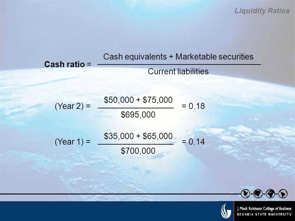 Cash equivalents + Marketable securities