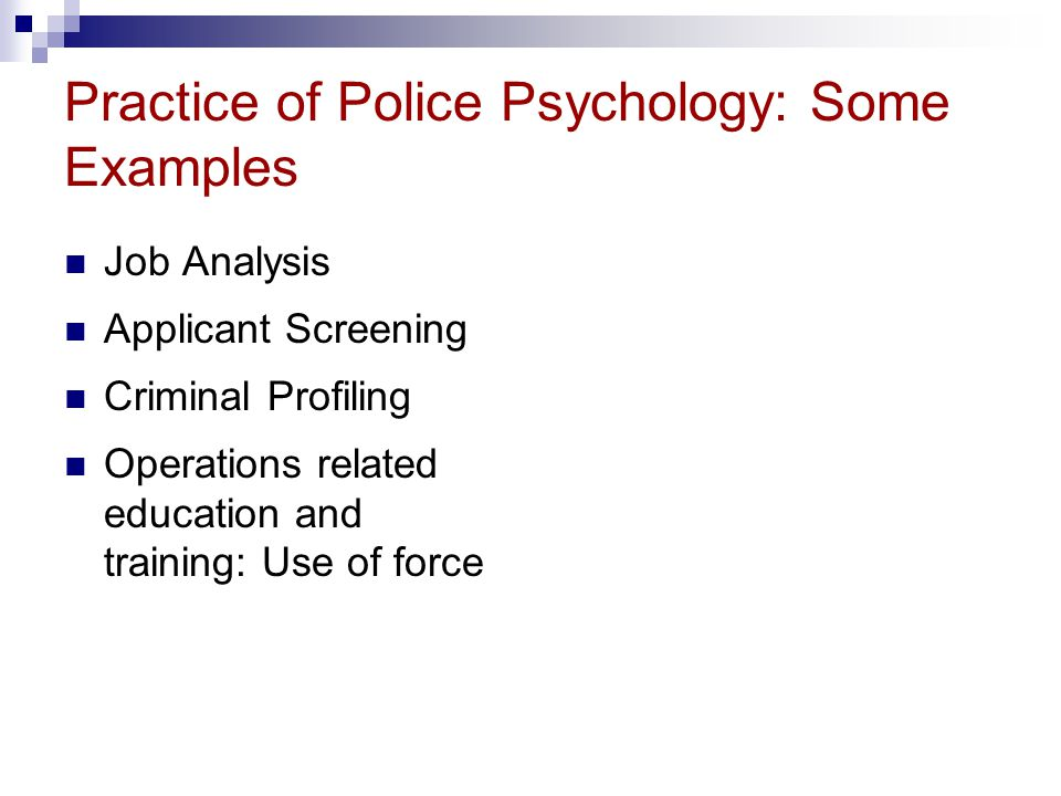simon fraser university psyc professor ronald roesch ppt  practice of police psychology some examples
