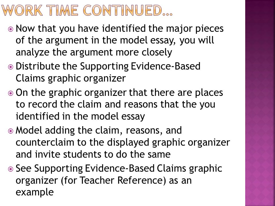evidence based claim essay Toulmin model of argument  personal values-based claim  there are six main argumentative strategies via which the relationship between evidence and claim are .