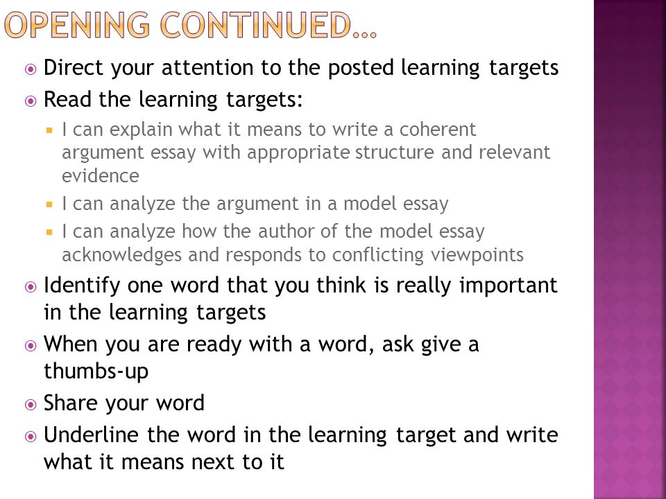 is it appropriate for learning to read essay It's important to choose the appropriate level of learning, because this directly influences the type of assessment you choose to measure your students' learning example: to know the seven steps of the research process (comprehension level).