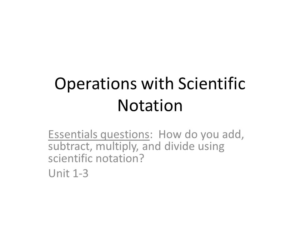 Operations With Scientific Notation Ppt Video Online Download. Operations With Scientific Notation. Worksheet. Operations With Scientific Notation Review Worksheet At Clickcart.co