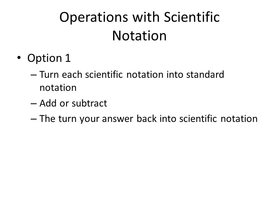 Operations with Scientific Notation ppt download – Chemistry Scientific Notation Worksheet Answers