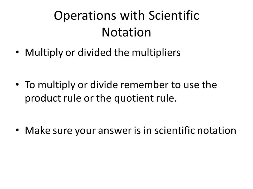 Operations with Scientific Notation ppt video online download – Dividing Scientific Notation Worksheet