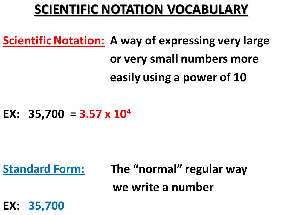 SCIENTIFIC NOTATION DAY 1 - ppt video online download