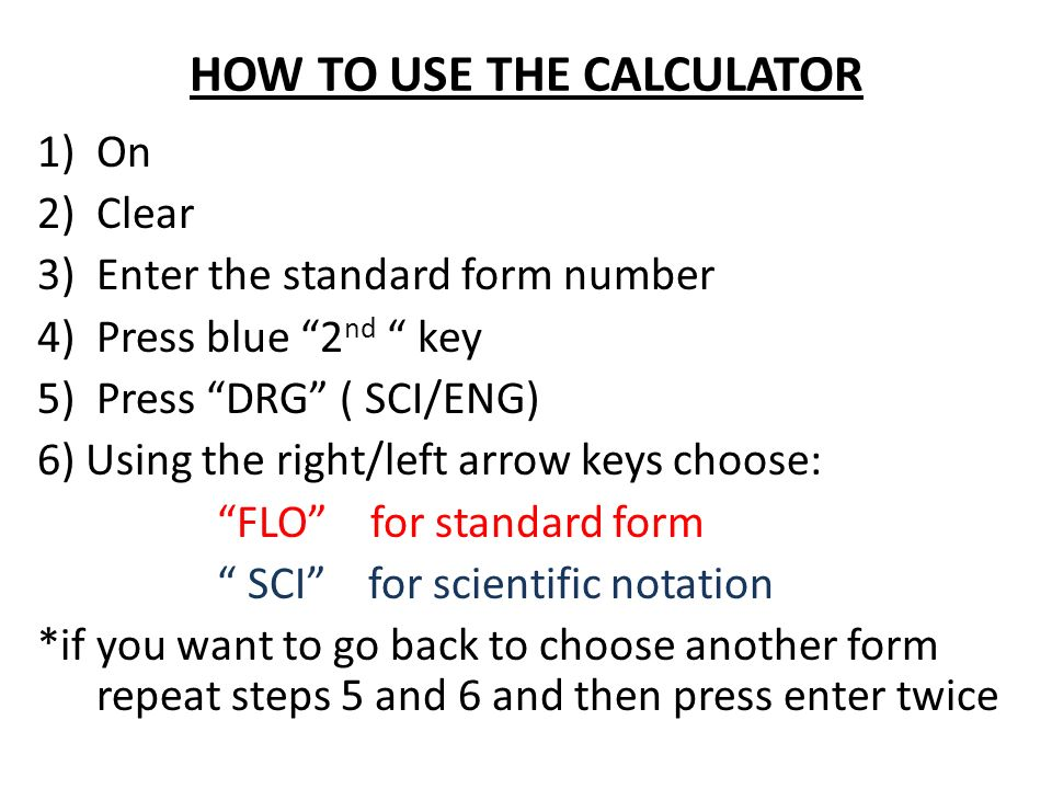 Standard Form To Scientific Notation Calculator Dolapgnetband