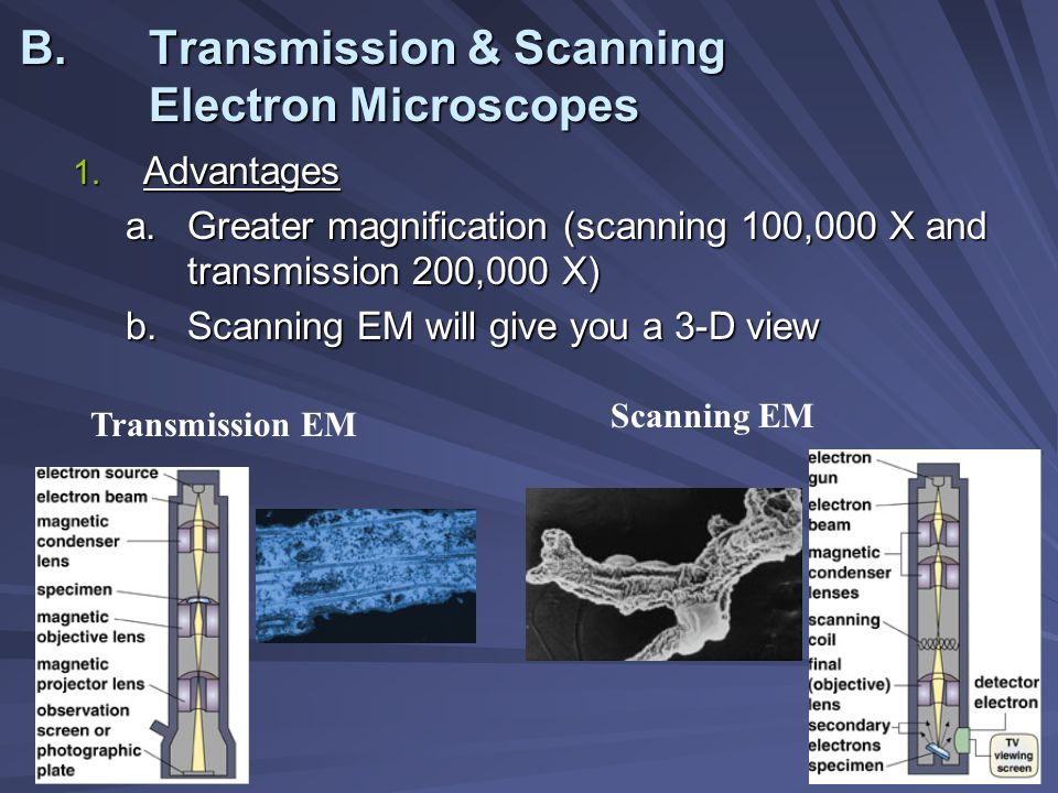 electron microscopy greater magnification and greater