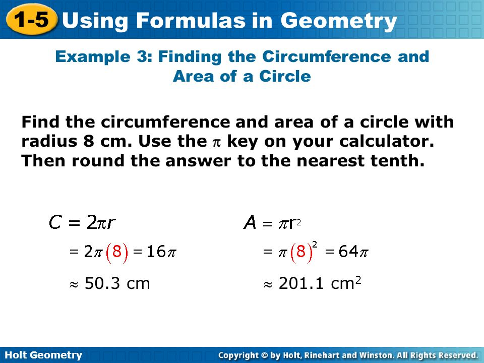 Example 3: Finding the Circumference and