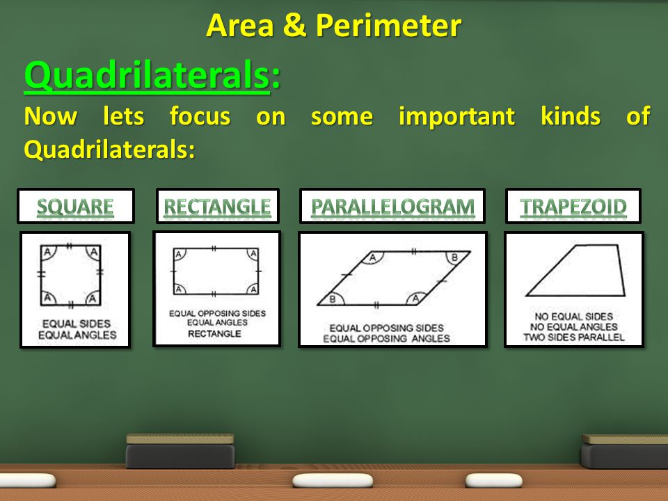 Quadrilaterals: Area & Perimeter