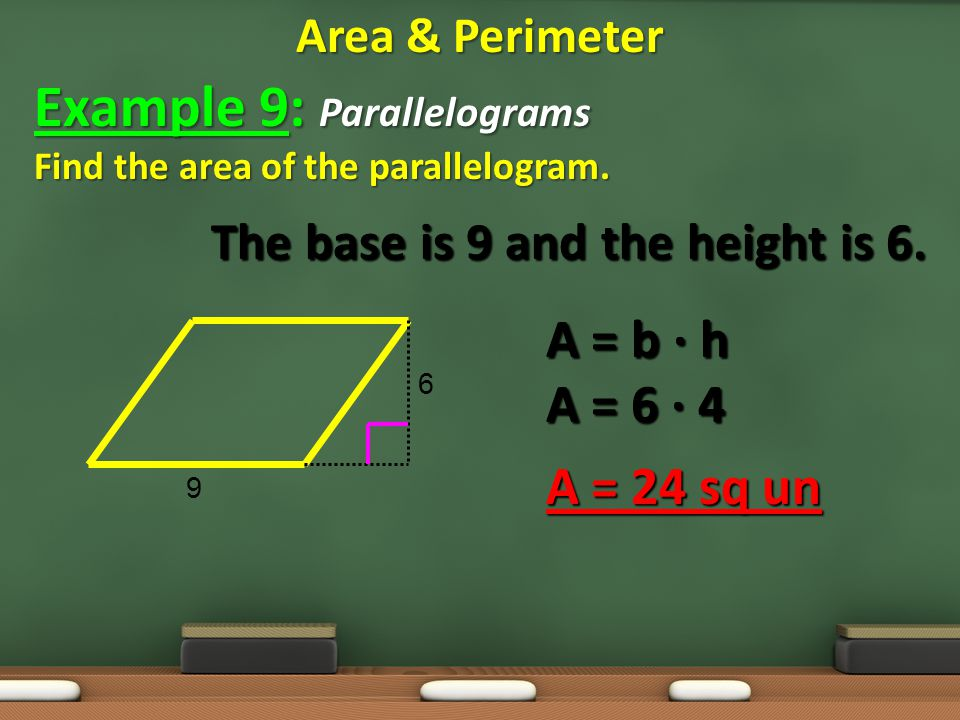 Example 9: Parallelograms