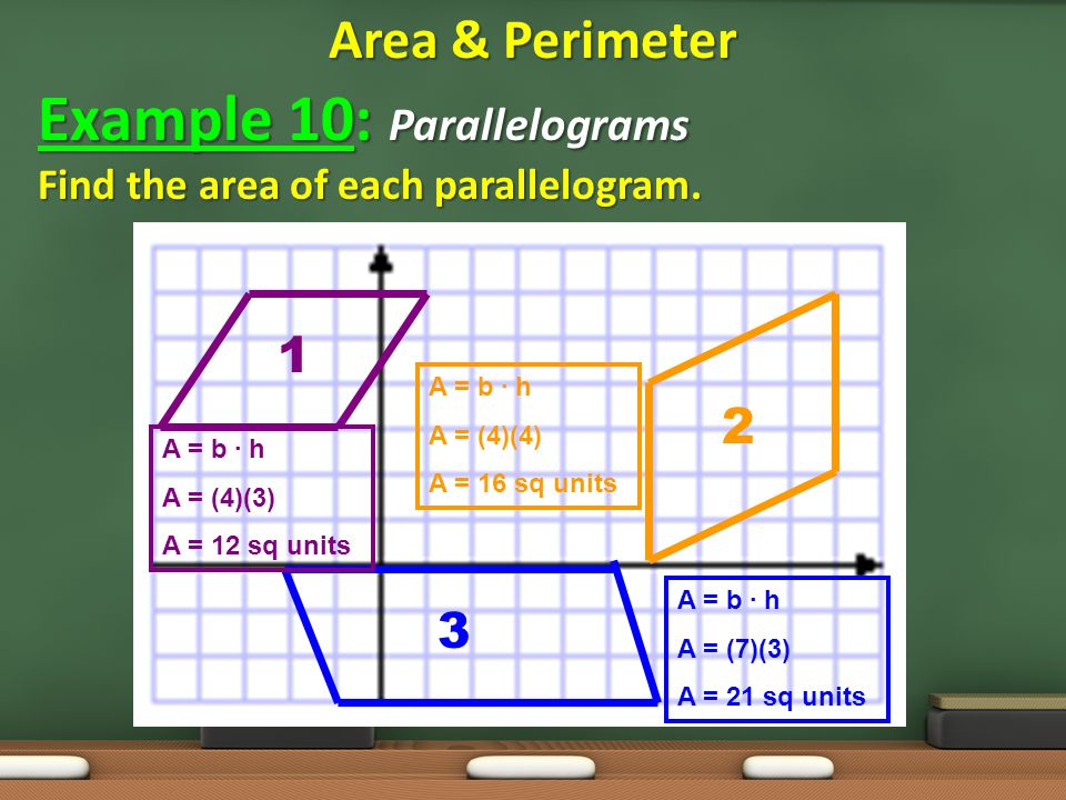Example 10: Parallelograms