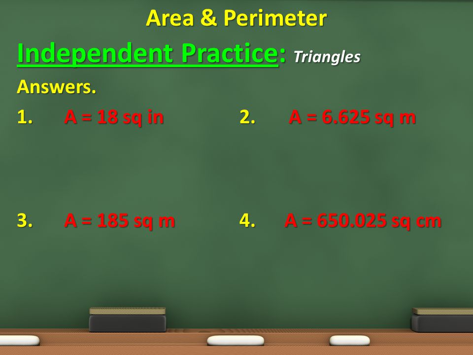 Independent Practice: Triangles