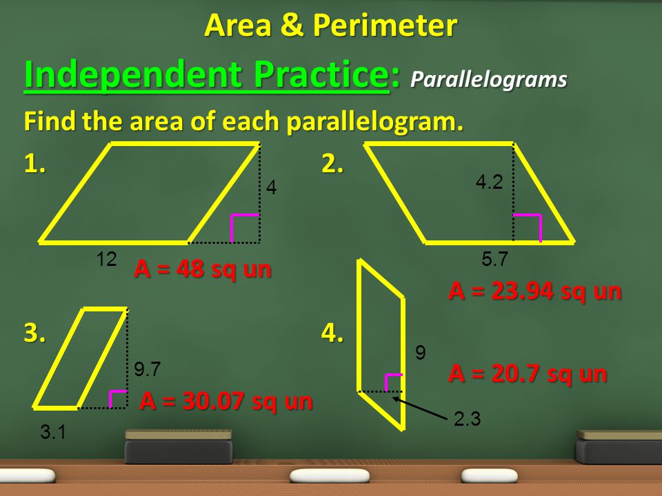 Independent Practice: Parallelograms