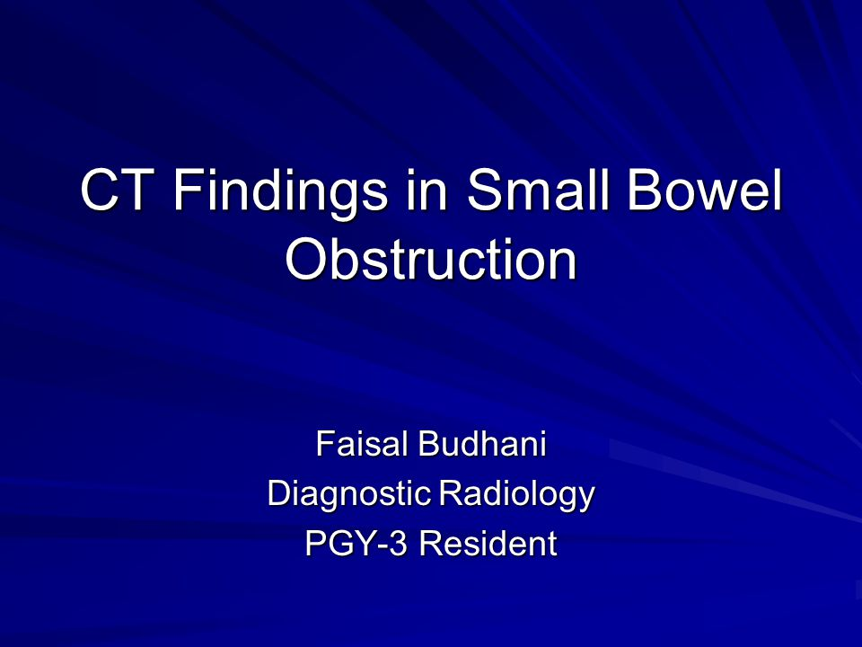CT Findings in Small Bowel Obstruction