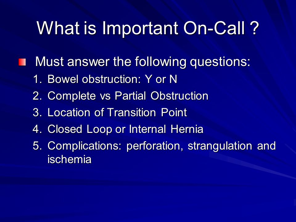 What is Important On-Call