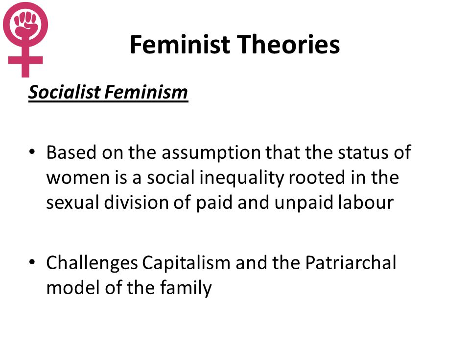 gender inequality divisions of labor and the concept of patriarchy from various feminist perspective Assess the claim that gender inequalities in the domestic and occupational divisions of labour are best understood with reference to the concept of patriarchy you.